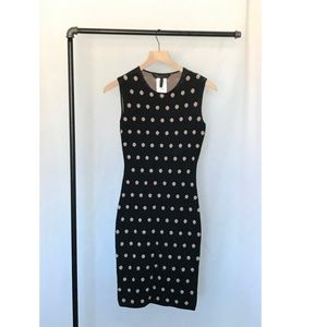 BCBGMaxAzria Sweater Polka Dot Dress